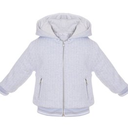 Patachou Blue & White Knit Hooded Jacket