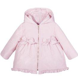 d9b22014dcd7d Patachou Pink Bows   Ruffles Coat. Pretty hooded coat for little girls ...