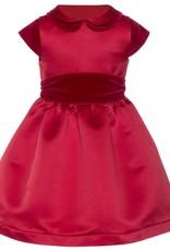 Patachou Red Satin & Velvet Dress