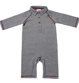 Fore Axel & Hudson Grey Polo Romper