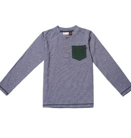 Fore Axel & Hudson Navy Pocket Henley