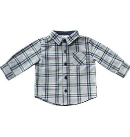 Fore Axel & Hudson Green & Blue Plaid Shirt