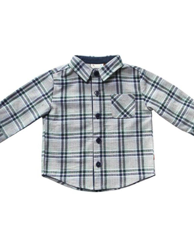 Fore Axel & Hudson Green & Blue Plaid Shirt
