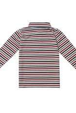 Fore Axel & Hudson Burgundy & Grey Stripe Polo