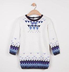 Catimini White & Blue Sweater Dress