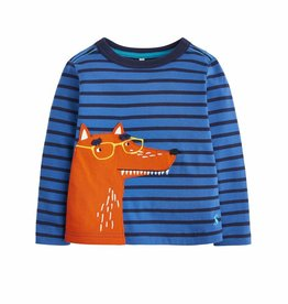 Blue Stripe Fox Tee