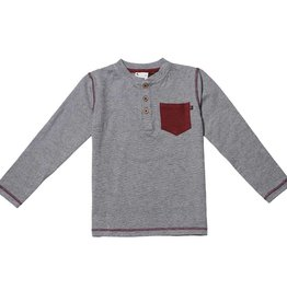 Fore Axel & Hudson Grey Pocket Henley