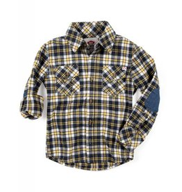Appaman Golden Navy Flannel Shirt