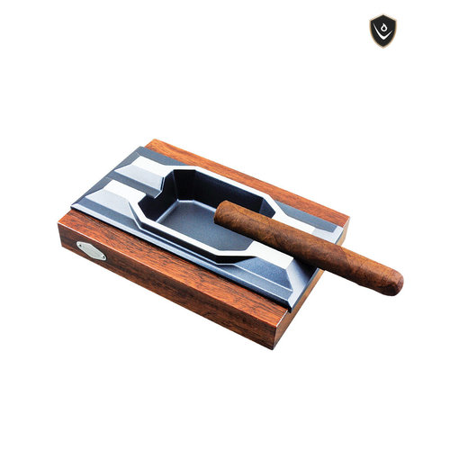 Vector Vector 2 Cigar Ashtray - Aluminum and Wood