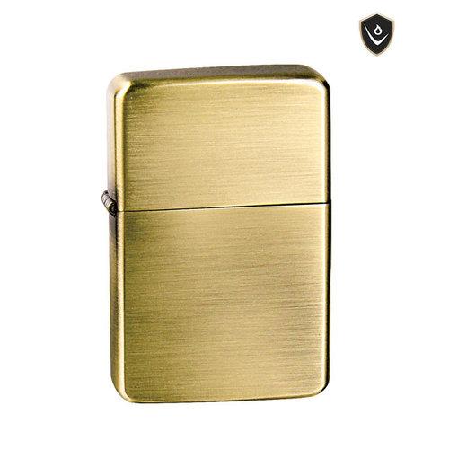 Vector Thunderbird Lighter - Brass Satin - Soft Flame