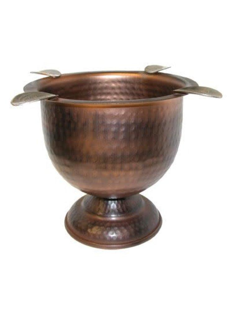Stinky Ashtrays Stinky 4 Stirrup Tall Ashtray - Hammered Copper