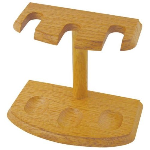 Pipe Stand  - 3 Pipe - Oak