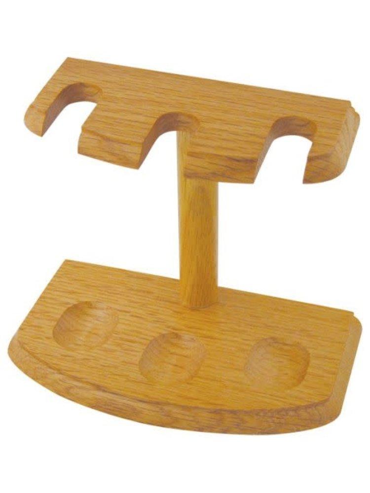 Pipe Stand  - 3 Pipe - Oak