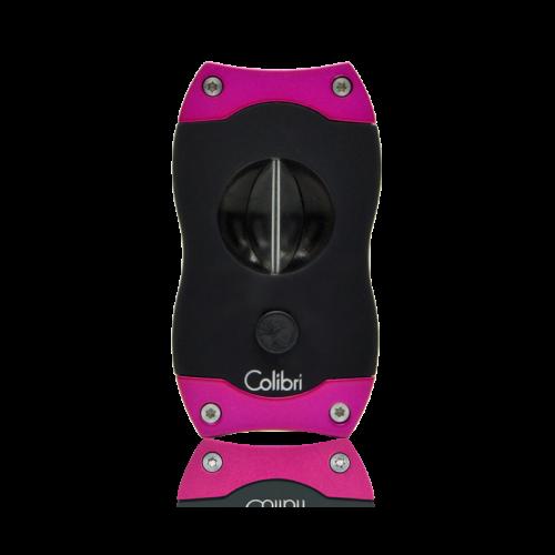 Colibri Colibri V-CUT Cigar Cutter - Black and Pink