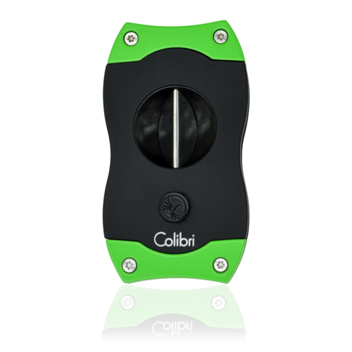 Colibri Colibri V-CUT Cigar Cutter - Black and Green