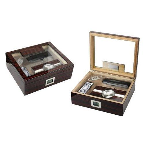 Prestige Imports Kensington - Humidor Gift Set - Holds 75 cigars