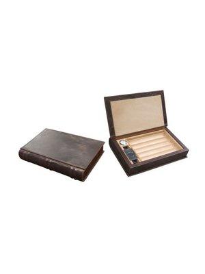 Prestige Imports Novelist - Leather Travel Humidor - Holds 5 cigars