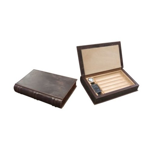 Prestige Imports Novelist - Leather Travel Humidor - Holds 5 cigars