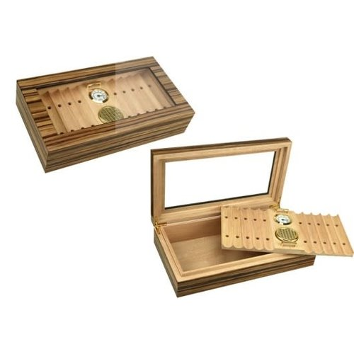 Prestige Imports Braydon - Glass Top Humidor - Holds 25 - 35 cigars