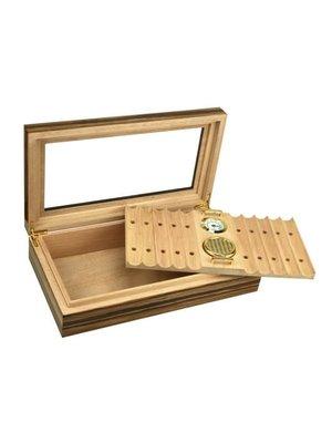Prestige Imports Braydon - Glass Top Humidor - Holds 25 - 35 cigars