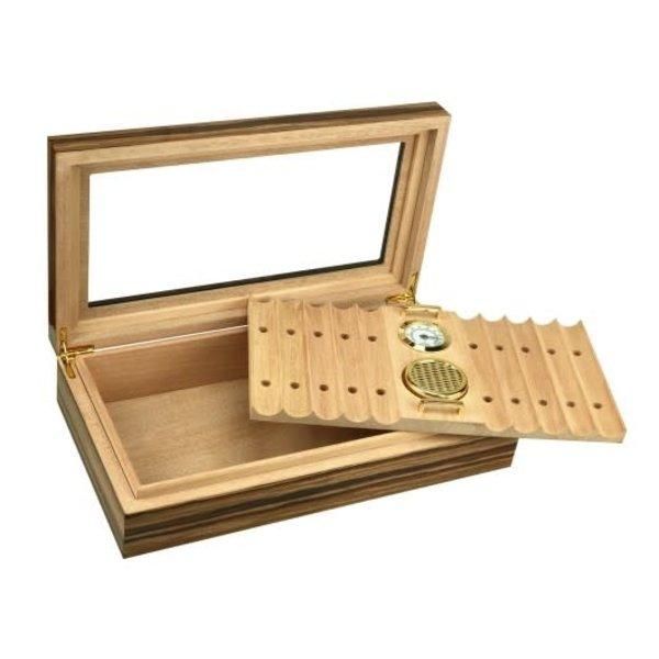 Braydon - Glass Top Humidor - Holds 25 - 35 cigars