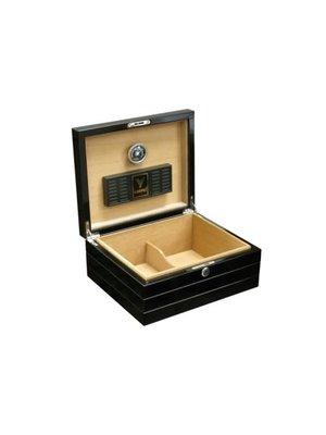 Prestige Imports Onyx - High Gloss Black Humidor - Holds 50 cigars