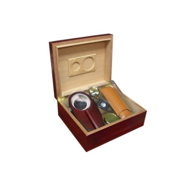 Diplomat - Cherry Humidor Gift Set - Holds up to 50 cigars
