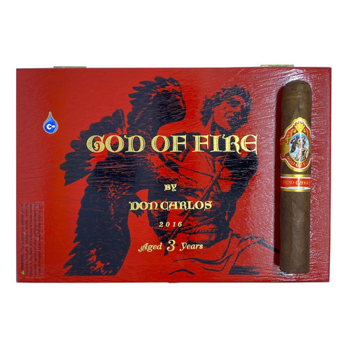 God of Fire GOF by Don Carlos Robusto Gordo 54 - single