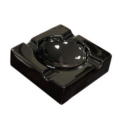 Prestige Imports Black Ceramic Cigar Ashtray