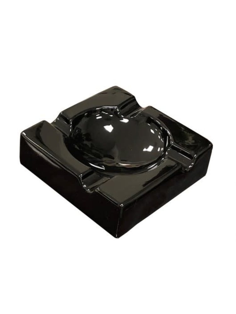 Prestige Imports Black Ceramic Cigar Ashtray