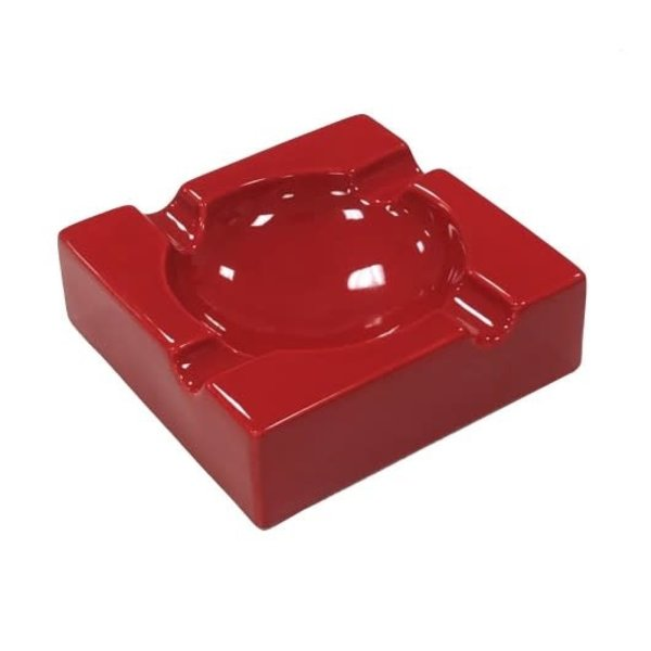 Red Ceramic Cigar Ashtray