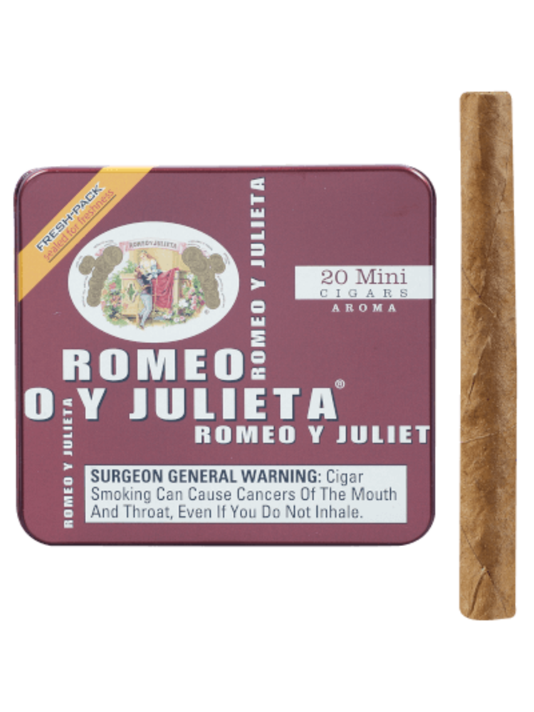 Romeo y Julieta Minis Aroma (Red) - 20pk
