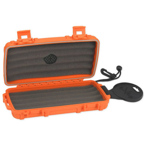 Cigar Caddy Cigar Caddy Travel Humidor - Holds 5 - Orange