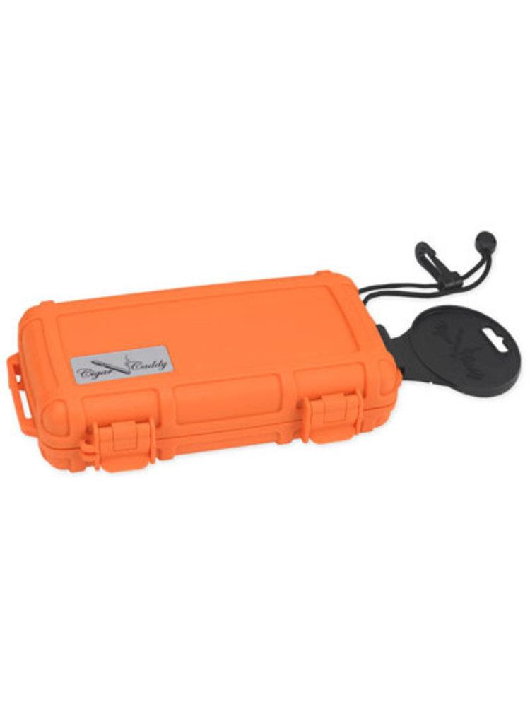 Cigar Caddy Cigar Caddy Travel Humidor - Holds 5 - Orange