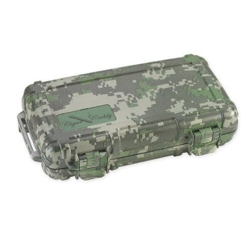 Cigar Caddy Cigar Caddy Travel Humidor - Holds 5 - Camouflage