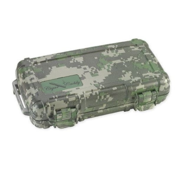 Cigar Caddy Travel Humidor - Holds 5 - Camouflage