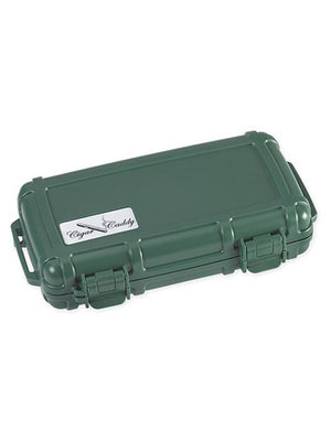 Cigar Caddy Cigar Caddy Travel Humidor - Holds 5 - Green