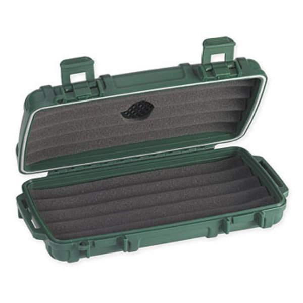 Cigar Caddy Travel Humidor - Holds 5 - Green