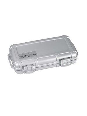 Cigar Caddy Cigar Caddy Travel Humidor - Holds 5 - Silver