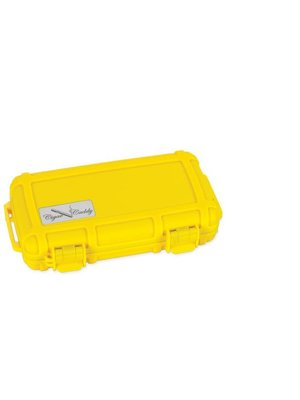 Cigar Caddy Cigar Caddy Travel Humidor - Holds 5 - Yellow
