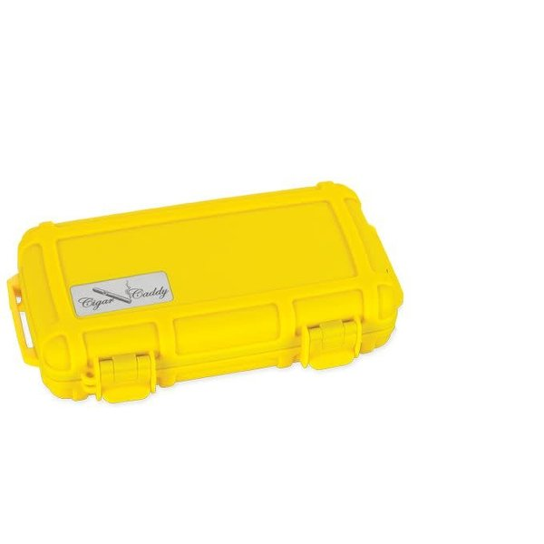 Cigar Caddy Travel Humidor - Holds 5 - Yellow