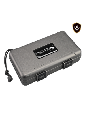 Vector Vector Travel Humidor - Holds 5 - Gray