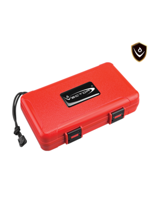 Vector Vector Travel Humidor - Holds 5 - Red