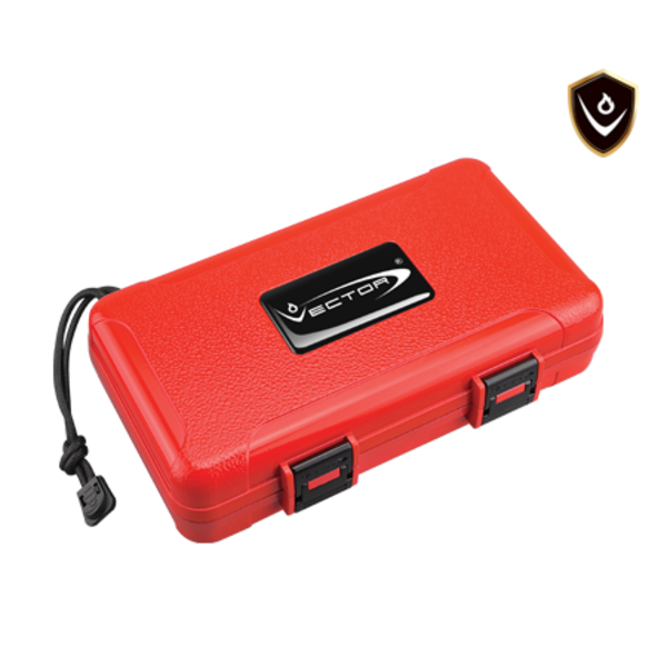 Vector Travel Humidor - Holds 5 - Red