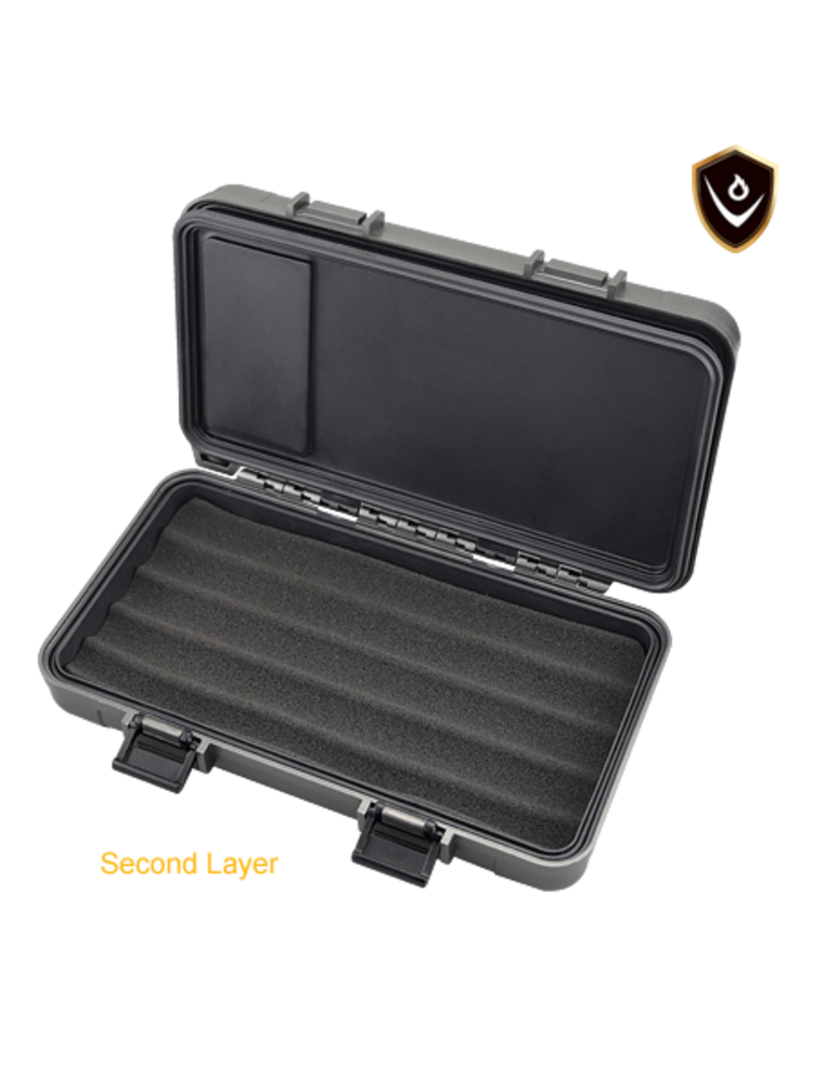 Vector Vector Travel Humidor - Holds 5 - Black