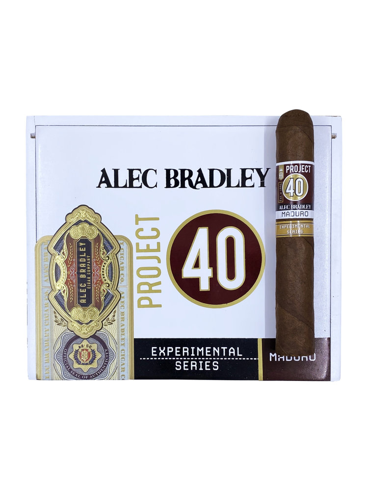 Project 40 by Alec Bradley Project 40 Maduro Robusto 5x50 - Box 24