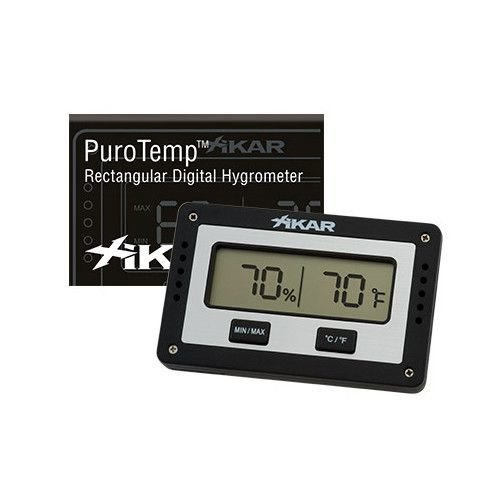 Xikar XIKAR Purotemp Digital Rectangle Hygrometer