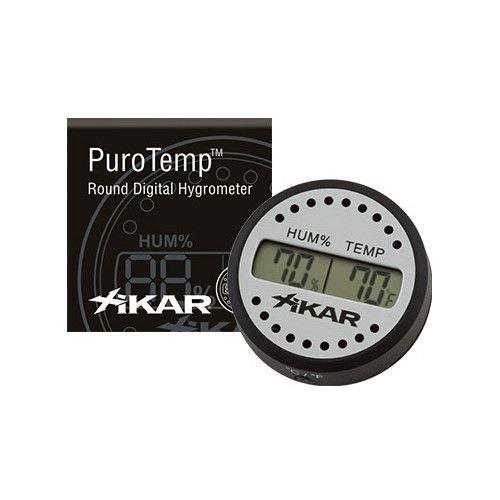 Xikar XIKAR Purotemp Round Digital Hygrometer