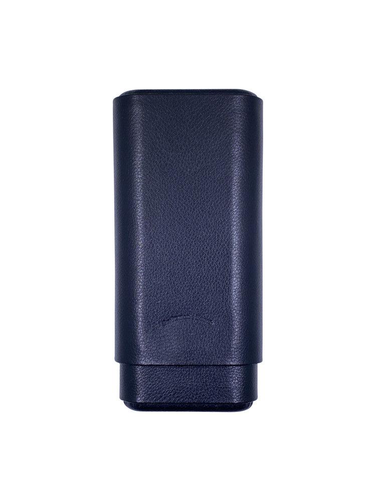 Craftsman's Bench CB Cigar Case 60 Ring Black Leather 3 Cigar Churchill