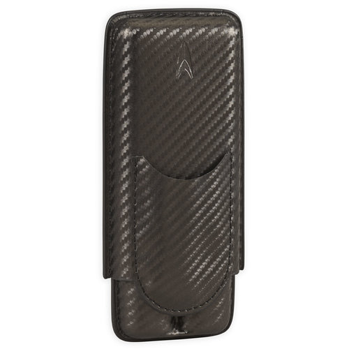 Lotus Lotus 2 Finger Cigar Case ( 70 ring) w/ cutter- Carbon Fiber Wrap
